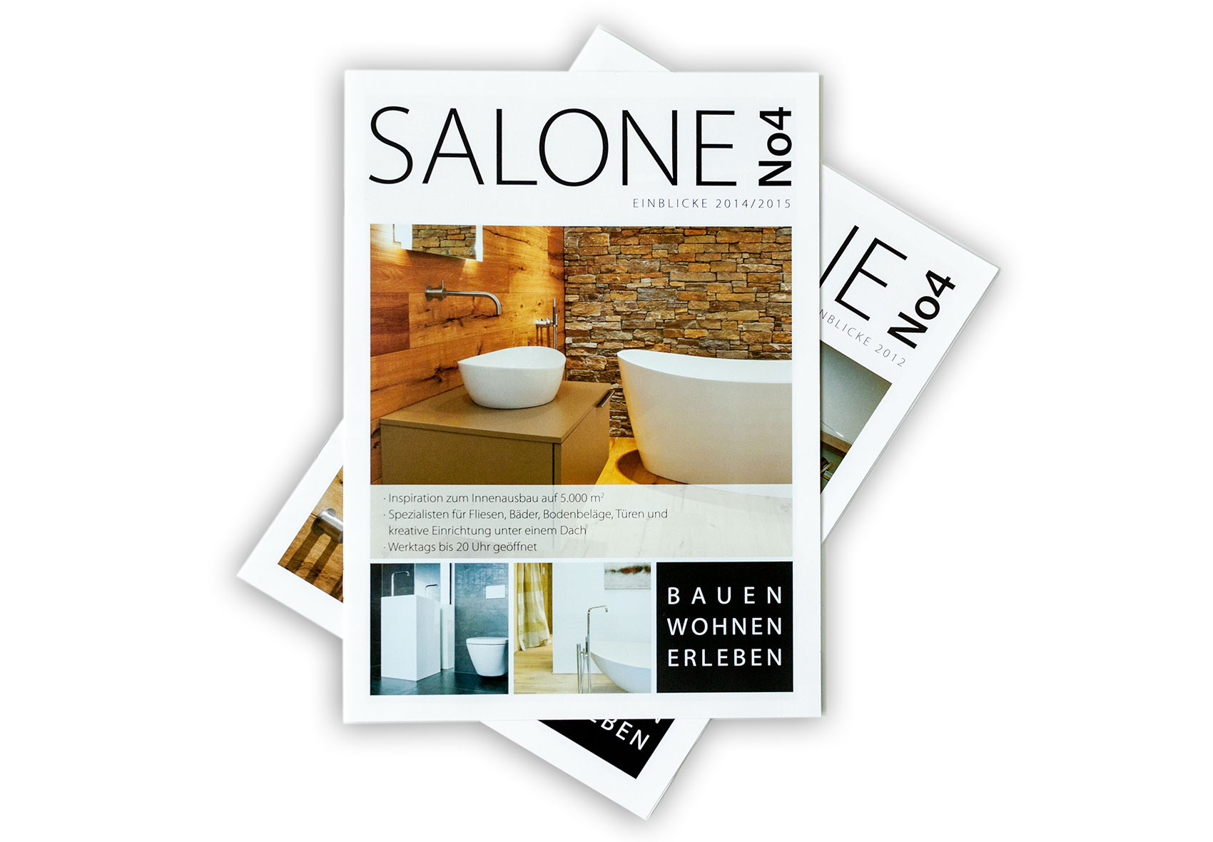 Titelseite der Imagebroschüre von Salone No4; dem Kompetenzzentrum für Wohnen und Bauen