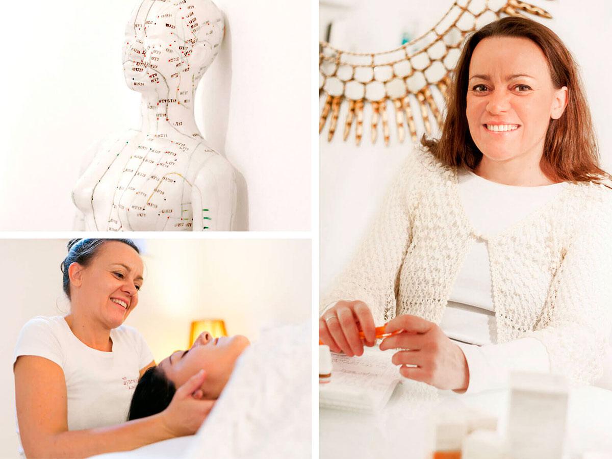 Heilpraktikerin Kerstin Engelhardt bei der Arbeit