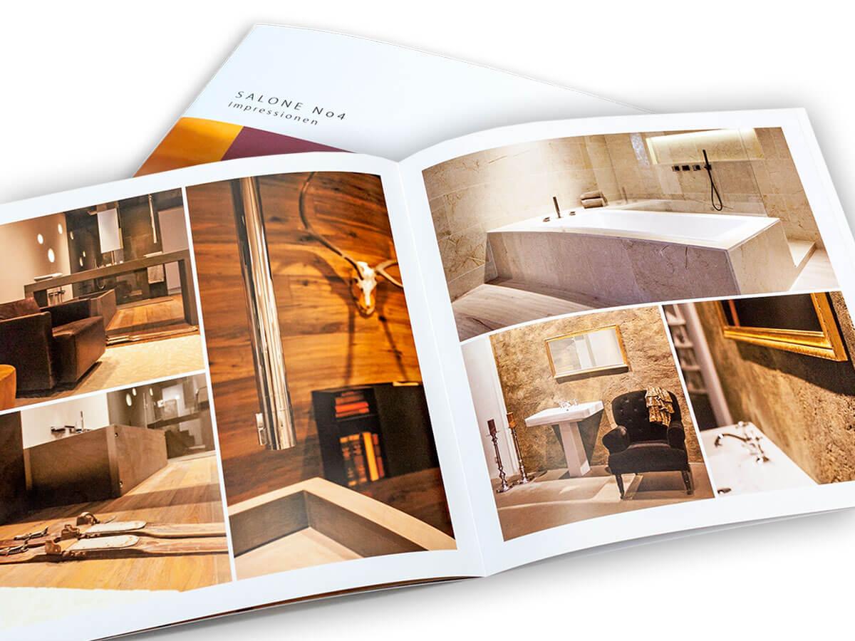 Bildbroschüre mit Fotos aus der Ausstellung von Salone No4