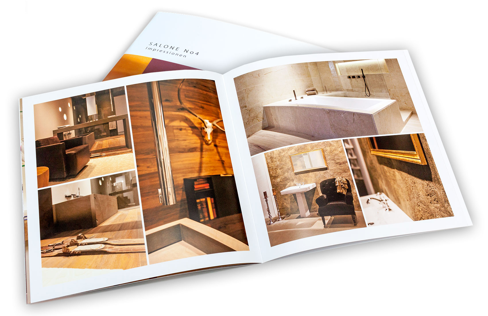 Impressionen von Salone No4 in Form eines Fotobuchs.