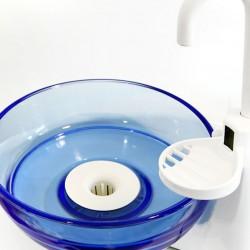 Mundspülschüssel aus blauem Plexiglas
