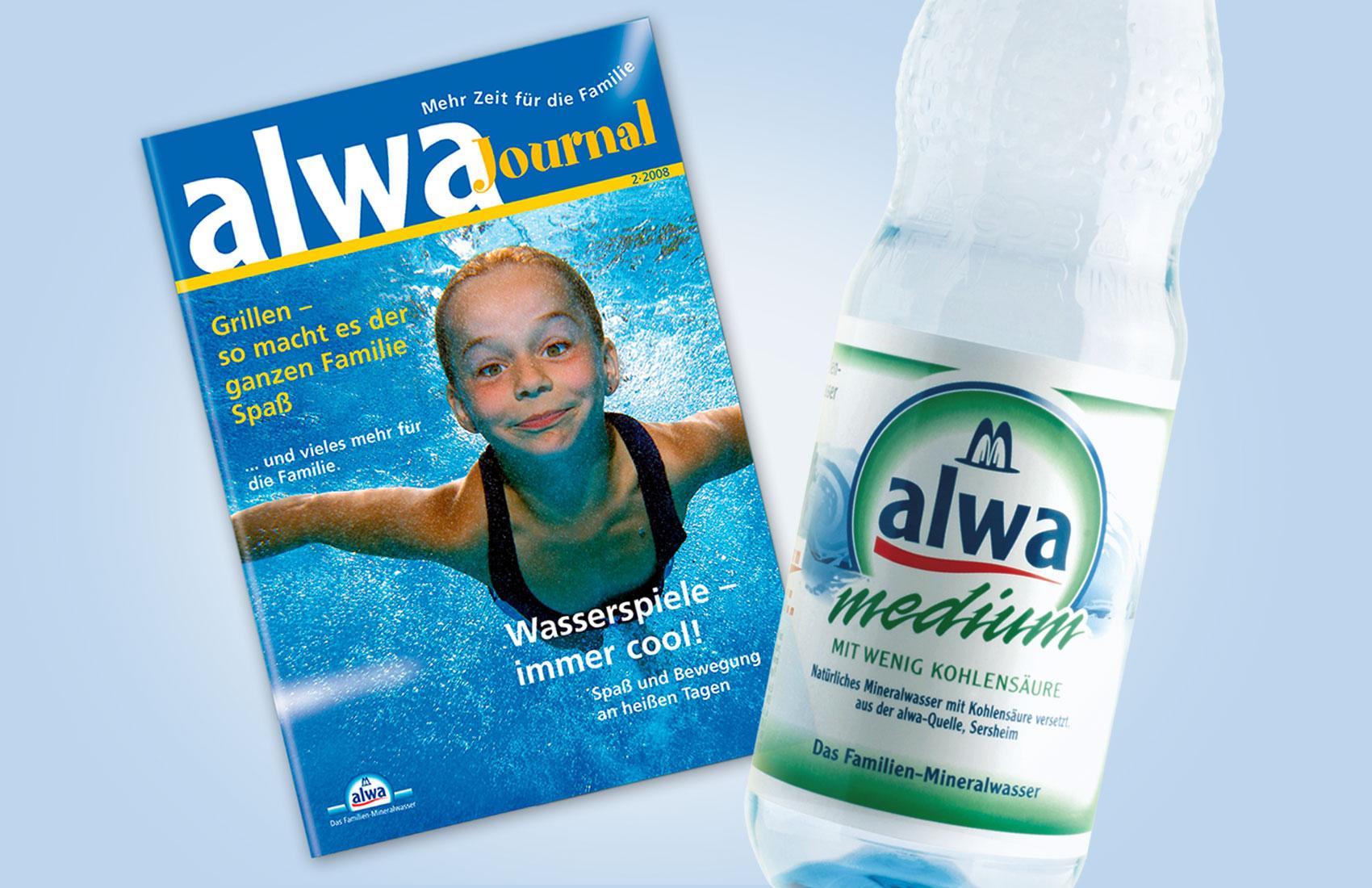 Das Familienjournal von alwa Mineralwasser wurde gratis in den Getränkekästen verteilt.