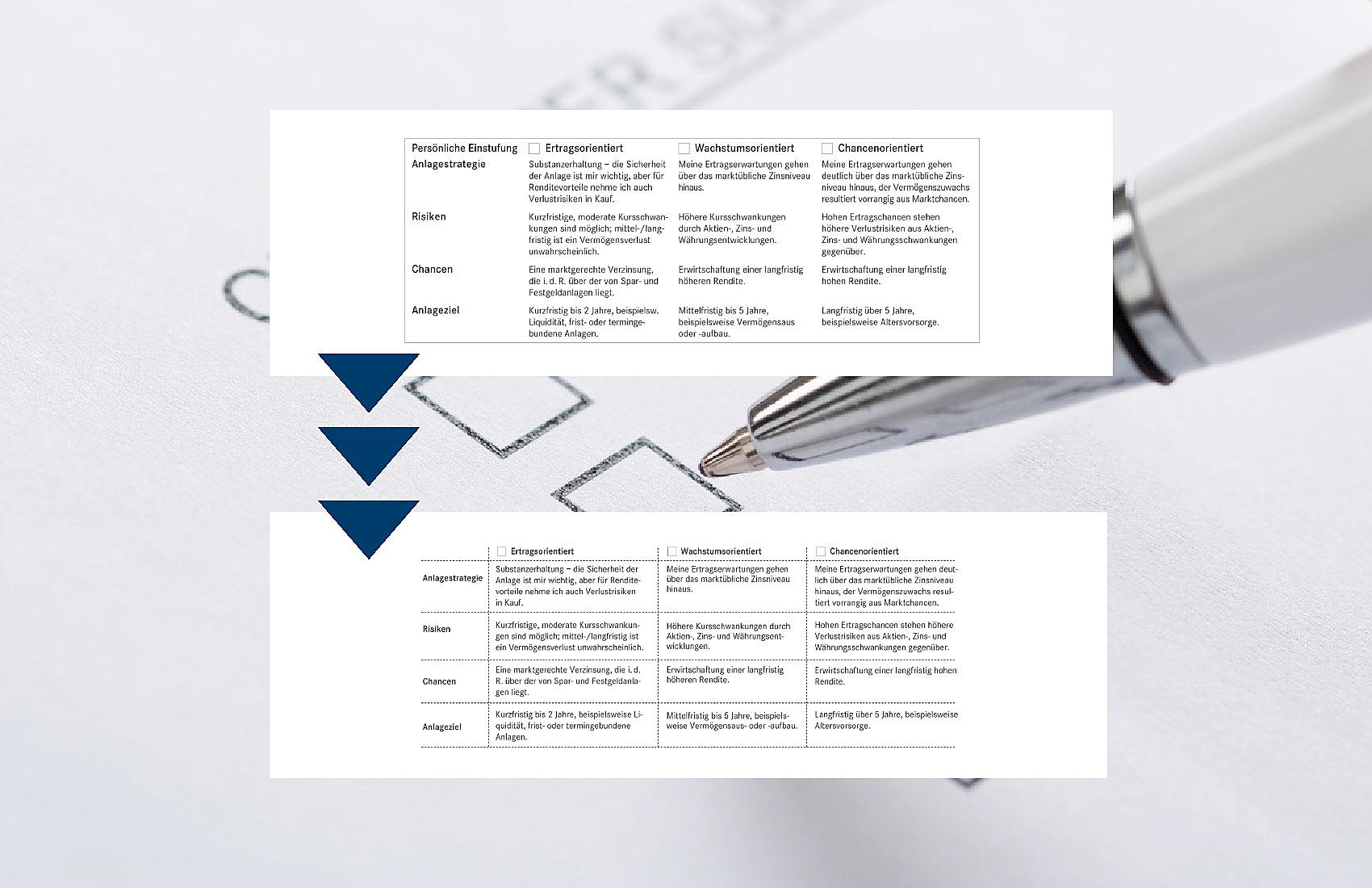 Kleine Texte in mehreren Spalten wurde mit Linien tabellenartig unterteilt. Hierdurch wurde die Lesbarkeit verbessert.